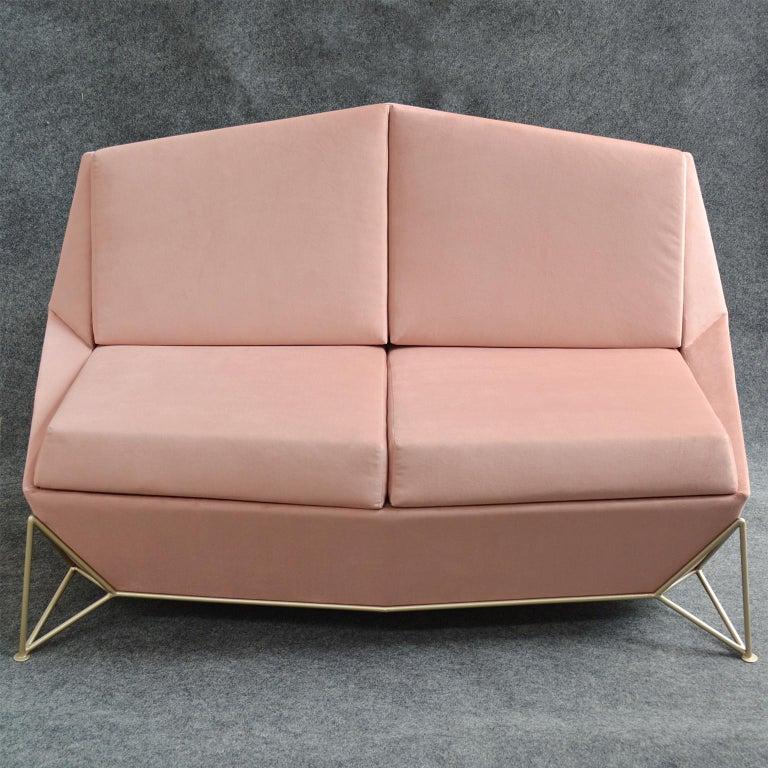 Contemporary Velveteen Rose Sofa