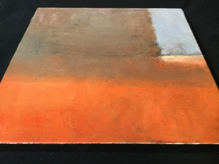 Modern Contemporary Verso Signed Abstract Oil on Canvas For Sale