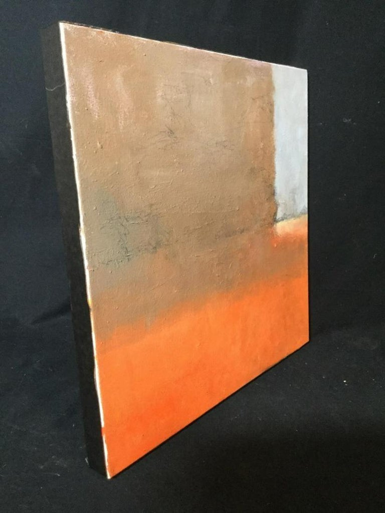 Contemporary Verso Signed Abstract Oil on Canvas In Good Condition For Sale In Great Barrington, MA