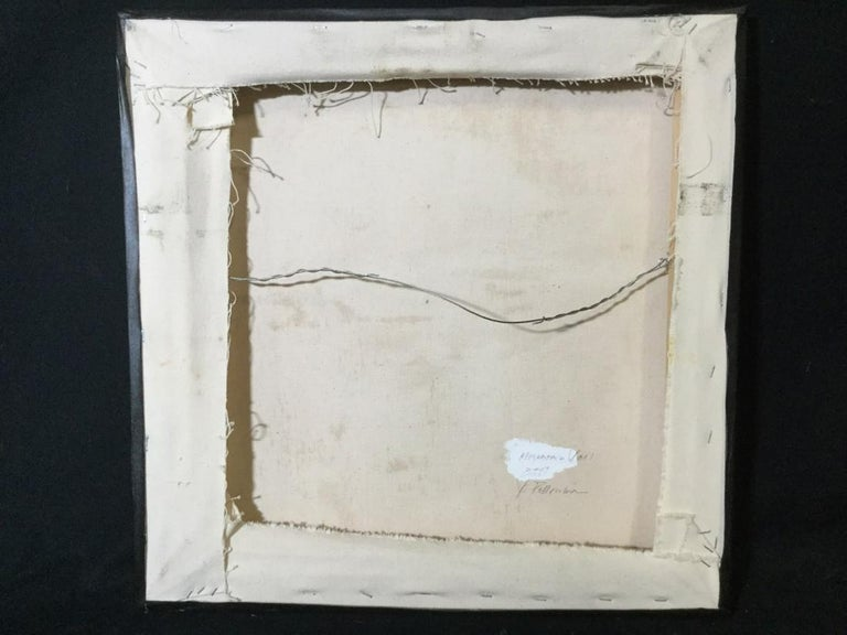 Contemporary Verso Signed Abstract Oil on Canvas For Sale 1