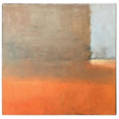 Contemporary Verso Signed Abstract Oil on Canvas