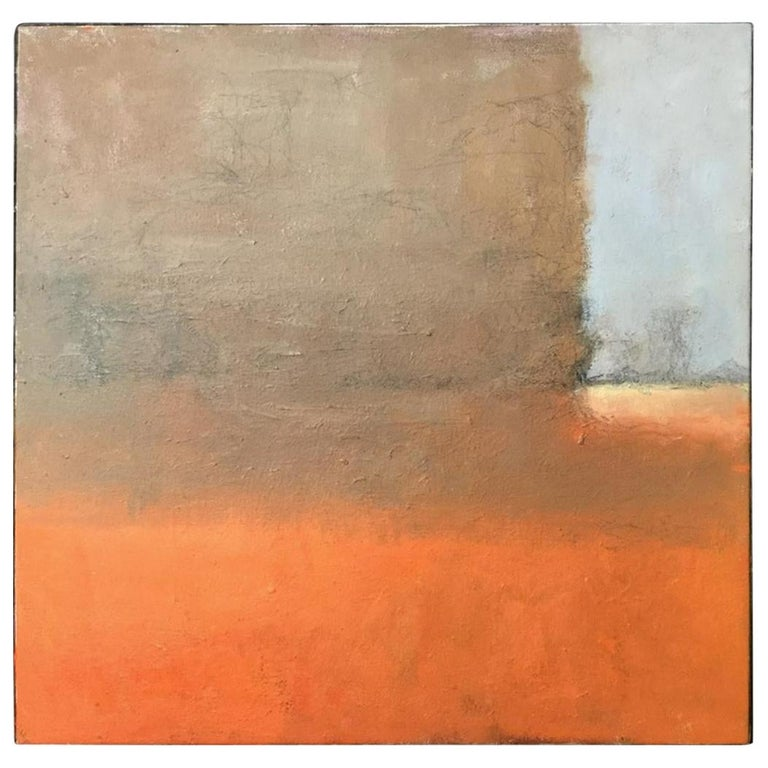 Contemporary Verso Signed Abstract Oil on Canvas For Sale