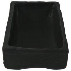 Contemporary Vessel with Matte Black Glaze
