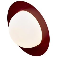 Contemporary Wall Lamp 'Alley' by AGO 'Large-Burgundy'