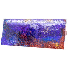 Contemporary Wall Lamp 'Particle' by Kueng Caputo, Purple and Red and Blue