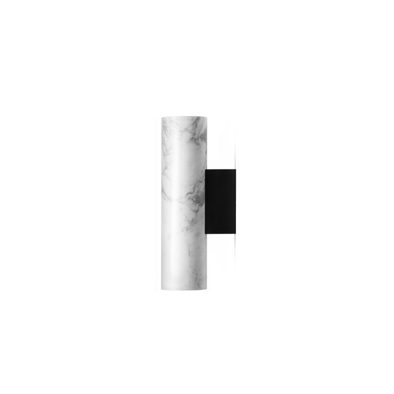 Contemporary Wall Lamps 'W01' in Black Lava Stone For Sale 5