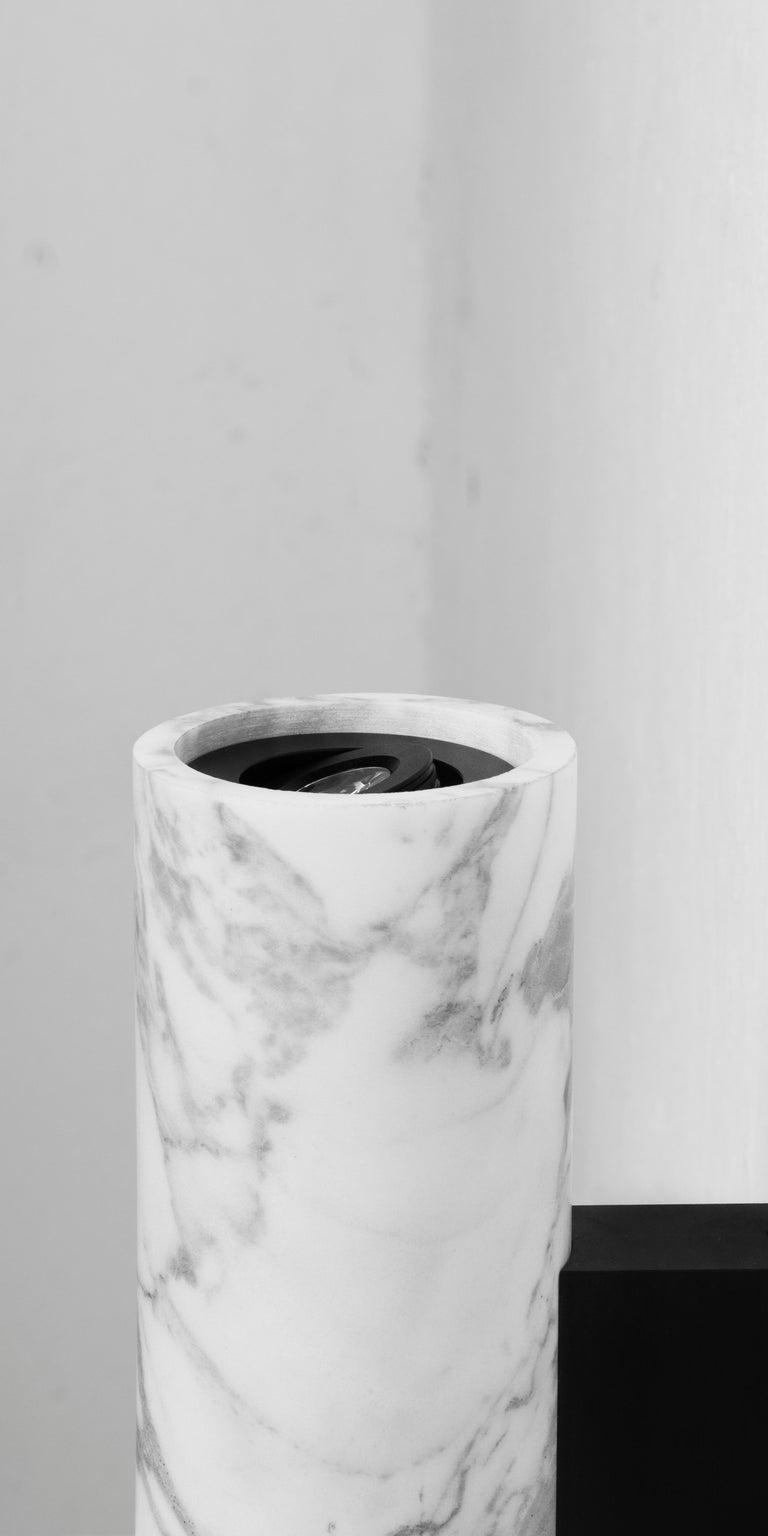 Contemporary Wall Lamps 'W01' in Black Lava Stone For Sale 7