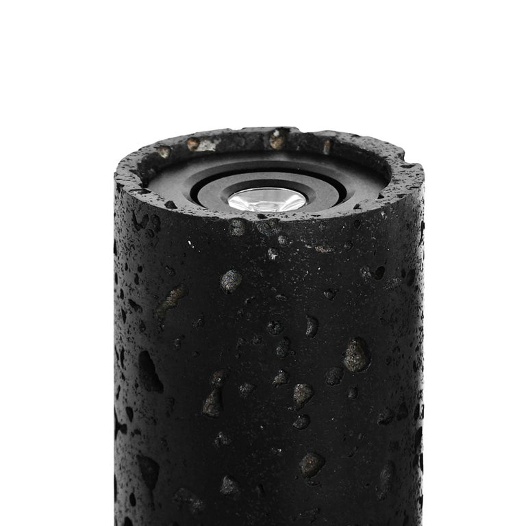 Contemporary Wall Lamps 'W01' in Black Lava Stone For Sale 3