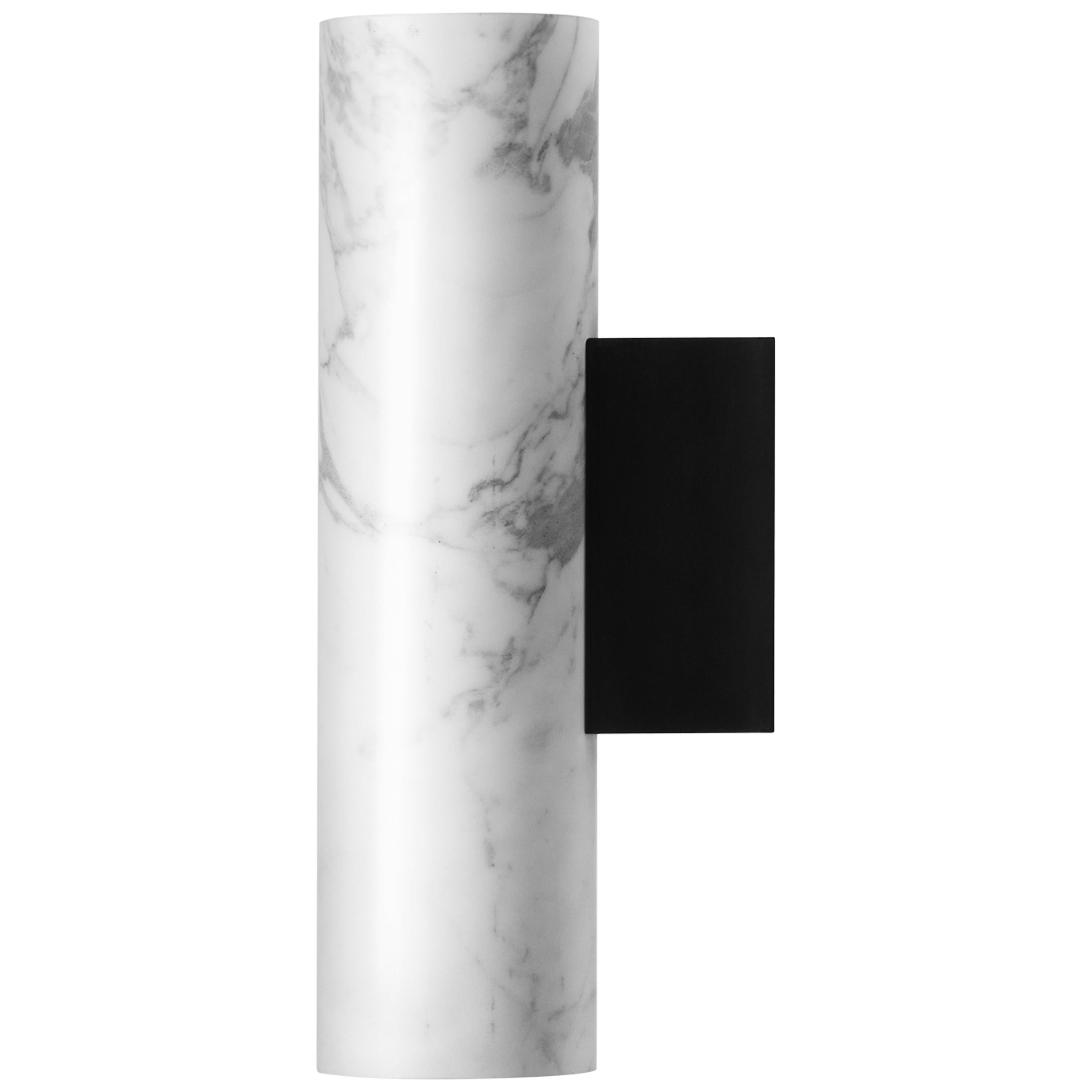 Contemporary Wall Lamps 'W01' in White Marble