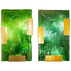 """Contemporary Wall Lights, Belgian Creation Signed """"JN"""", Exclusively At Via Ant"""