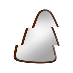 Contemporary Wall Mirror from a Midcentury Design Triangular Frame