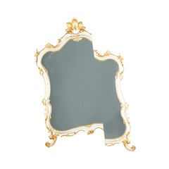 Contemporary Wall Mirror from an Antique Venetian Lacquered and Gilded Frame