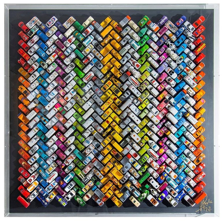 British Contemporary Wall-Mounted 'Cars' Sculpture by Laurence Poole, 2020 For Sale