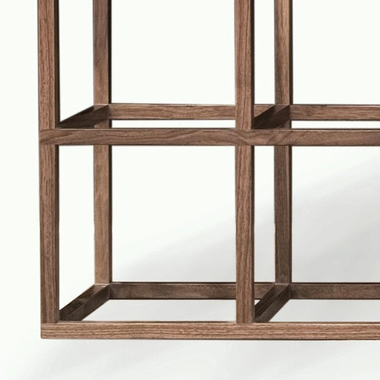 Modern Contemporary Walnut and Bronze Credenza For Sale