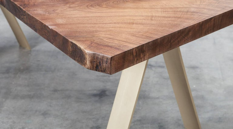 Modern Contemporary Walnut And Bronze Table By Johannes Hock F