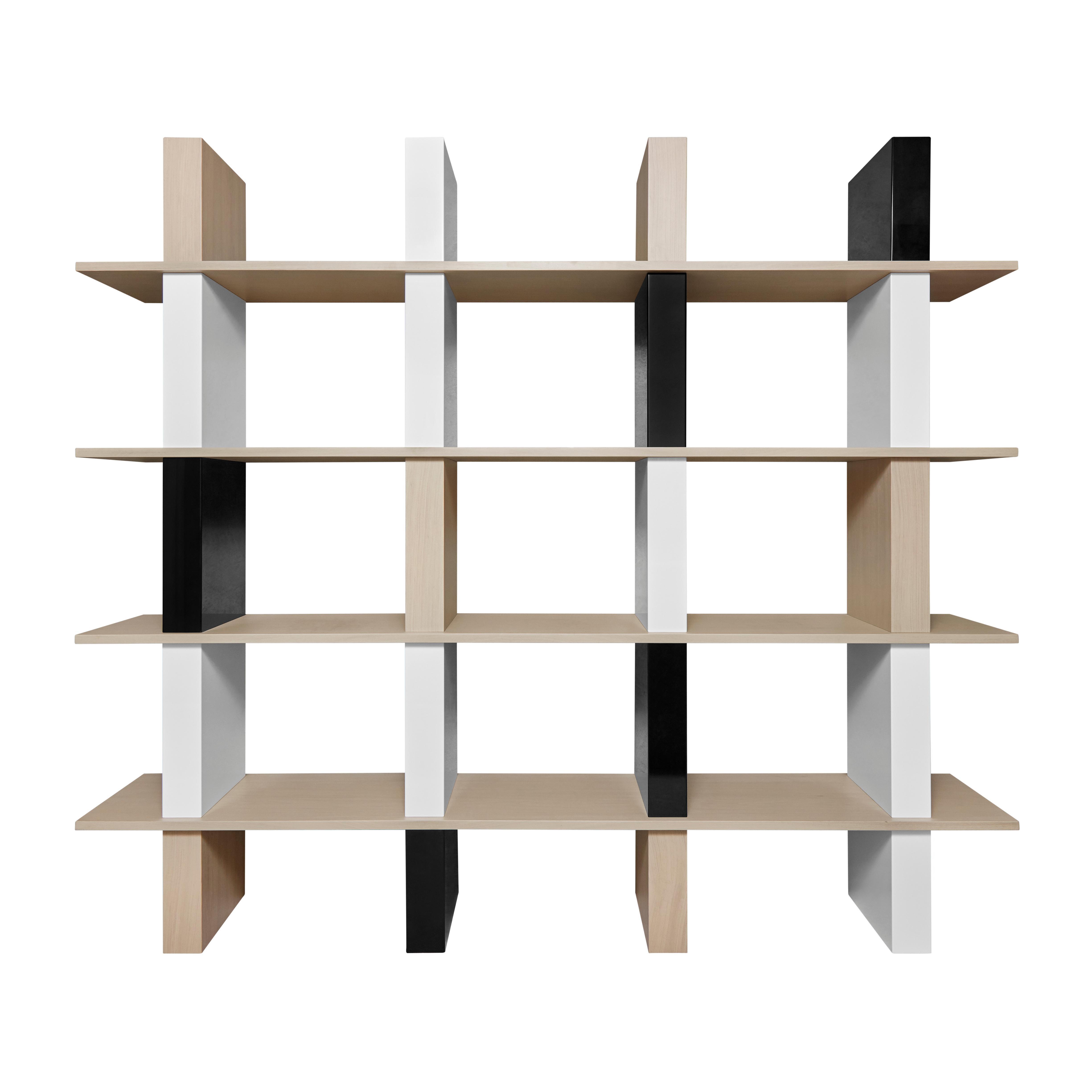 Contemporary Walnut and Lacquer Étagère / Book Shelf By Alex P White