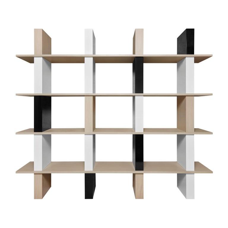 Contemporary Walnut and Lacquer Étagère / Book Shelf By Alex P White For Sale