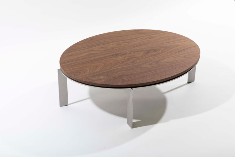 Minimalist Contemporary Walnut Side Table, Joined E24.4 by Barh For Sale