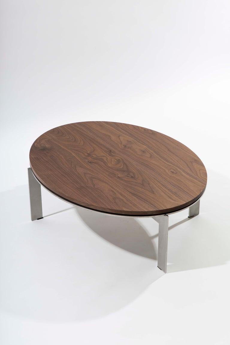 Contemporary Walnut Side Table, Joined E24.4 by Barh In New Condition For Sale In Aartselaar, Antwerp