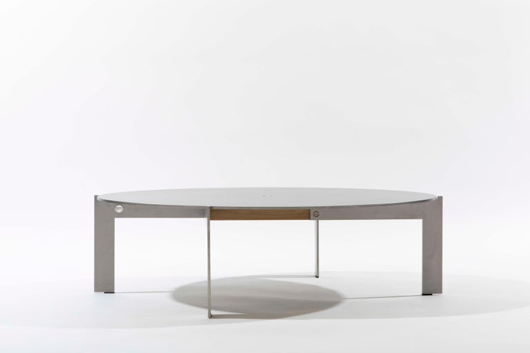 Contemporary Walnut Side Table, Joined E24.4 by Barh For Sale 1