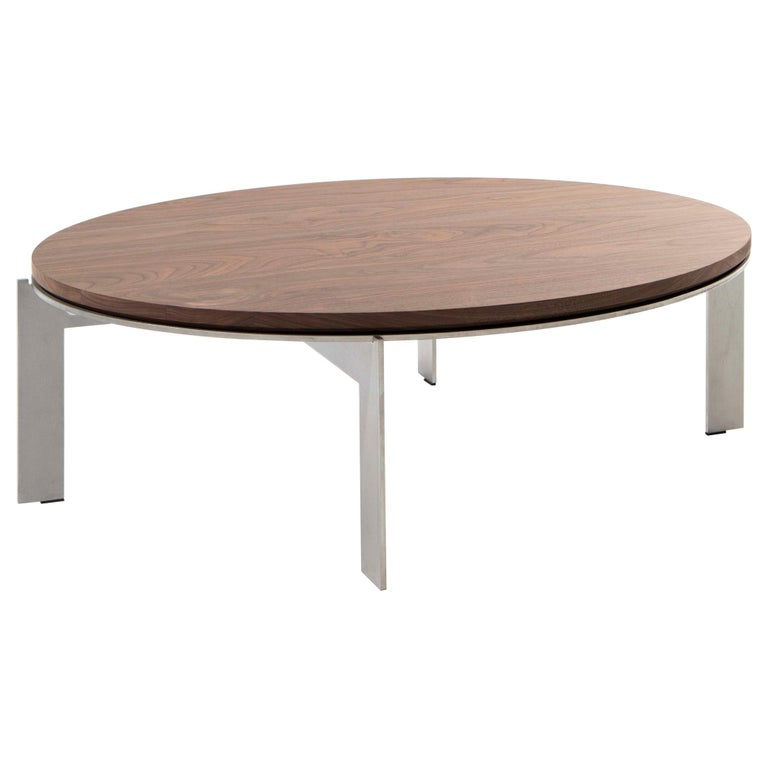 Contemporary Walnut Side Table, Joined E24.4 by Barh For Sale