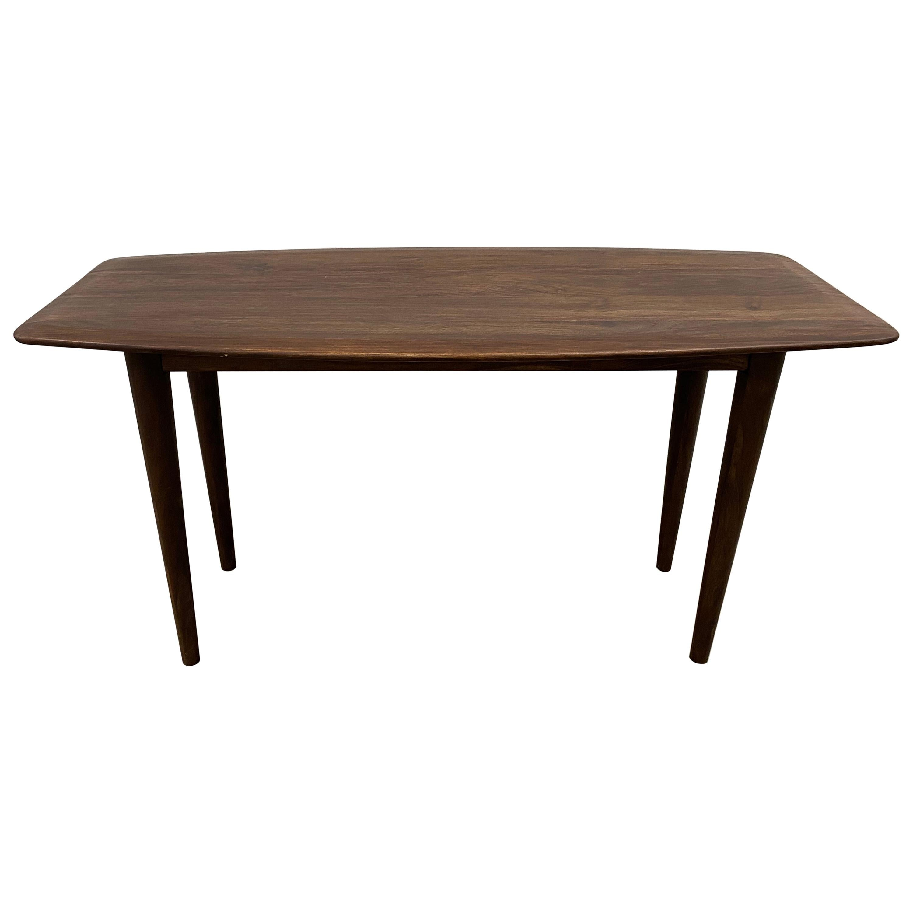 Contemporary Walnut Table for Console, Dining, or Desk