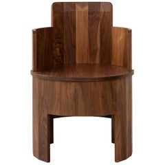 Contemporary Walnut Wood Cooperage Chair by Fort Standard, in Stock