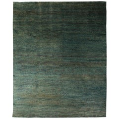 Contemporary Water-Sedge Handwoven Hemp Rug