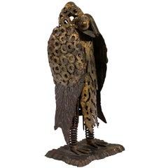 Contemporary Welded Bird Sculpture