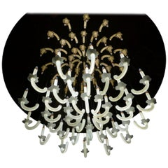 "Contemporary ""Wersailles Fleur"" Chandelier in Handmade Limoges Porcelain"