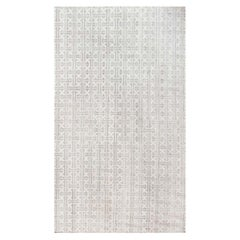Contemporary White and Gray Terra Rug Handmade in Natural Wool
