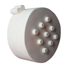 Contemporary White Ceramic Deep Serving Dish Handmade