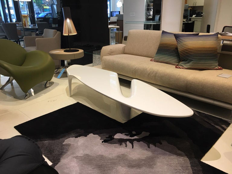 Modern Contemporary White Lacquered Coffee Table by Fredrikson Stallard for Driade For Sale
