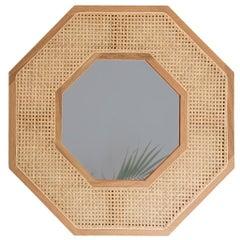 Contemporary White Oak Diamond Tinted Mirror by SinCa Design