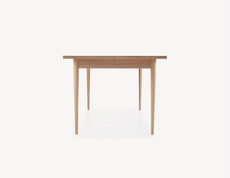 Scandinavian Modern Contemporary White Oak Dining Table by Coolican & Company (36