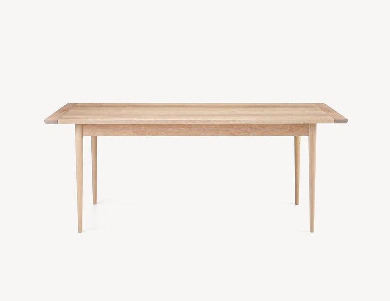 Canadian Contemporary White Oak Dining Table by Coolican & Company (36