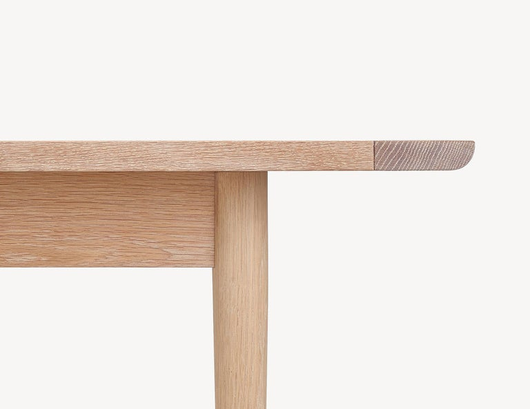Hand-Crafted Contemporary White Oak Dining Table by Coolican & Company (36