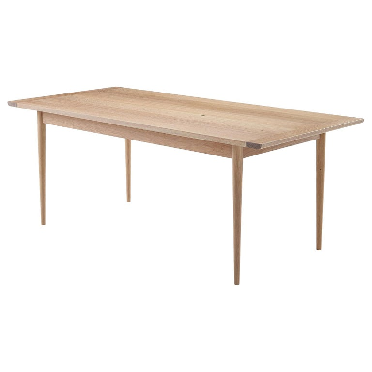 """Contemporary White Oak Dining Table by Coolican & Company (36"""" x 96"""") For Sale"""