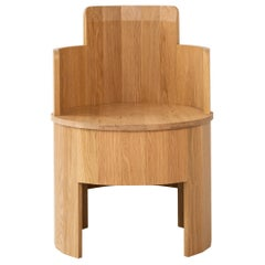 Contemporary White Oak Wood Cooperage Chair by Fort Standard, In Stock