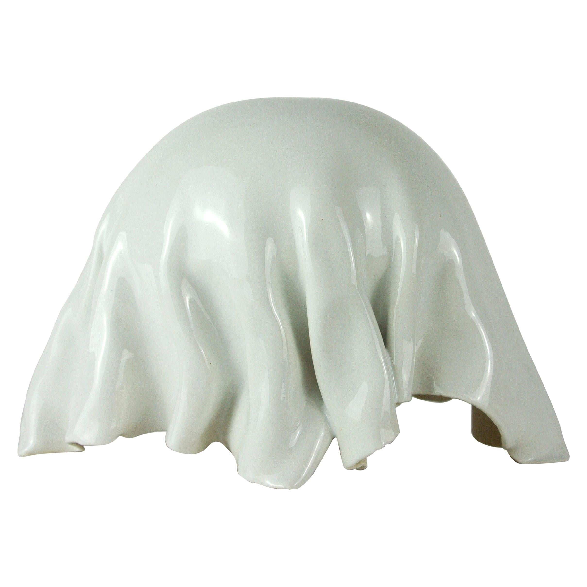 Contemporary White Porcelain Object by Danish Artist Christine Roland