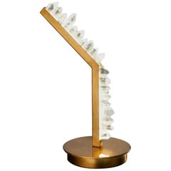 Contemporary White Quartz Table Lamp