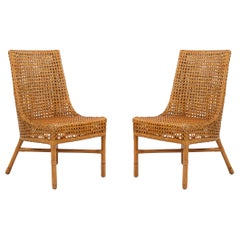Contemporary Wicker Side Chairs