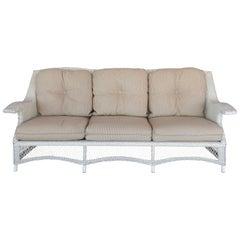 Traditionally Styled Wicker Sofa