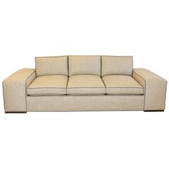 Large Modern Wide Arm Sofa