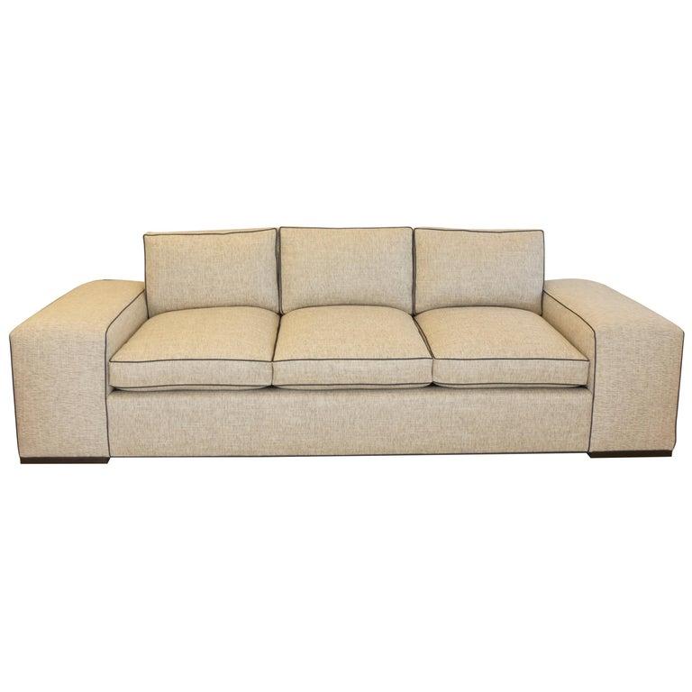 Large Modern Wide Arm Sofa
