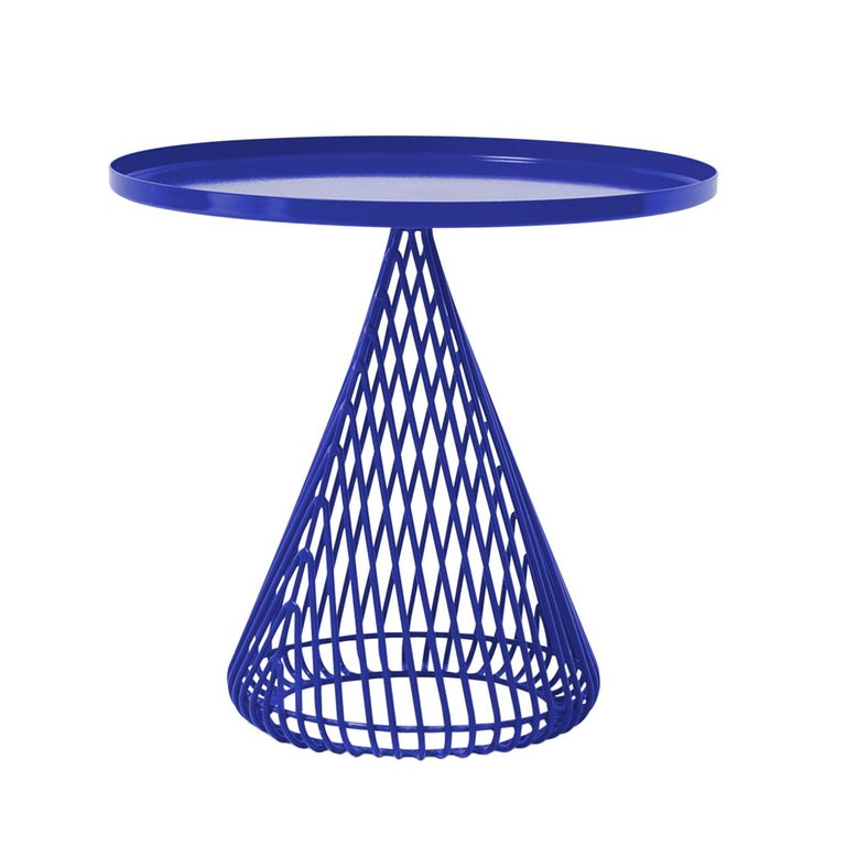 "Contemporary Wire Cocktail ""Cono"" Side Table by Bend Goods For Sale"