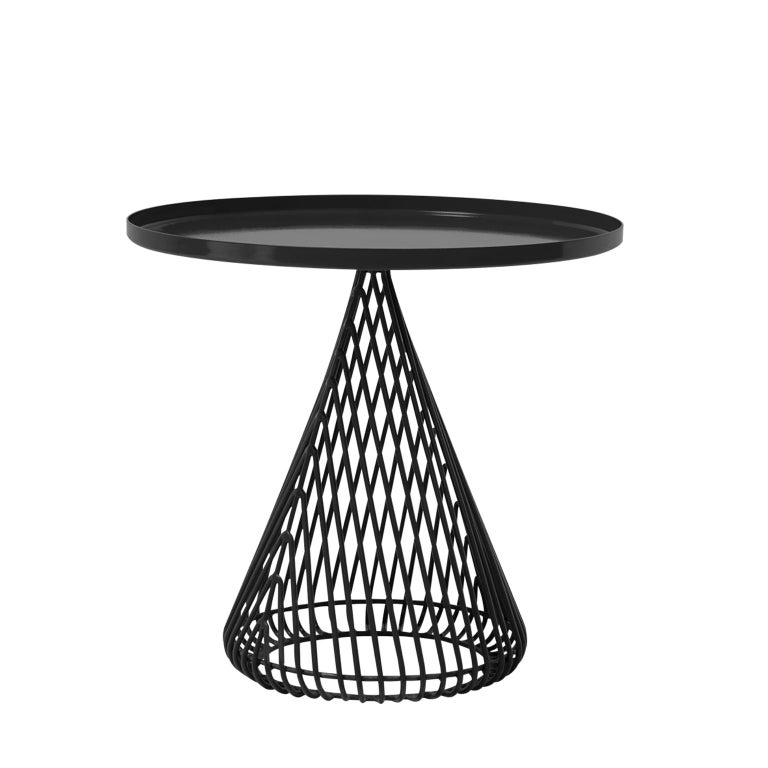 """Contemporary Wire Cocktail """"Cono"""" Side Table by Bend Goods For Sale"""