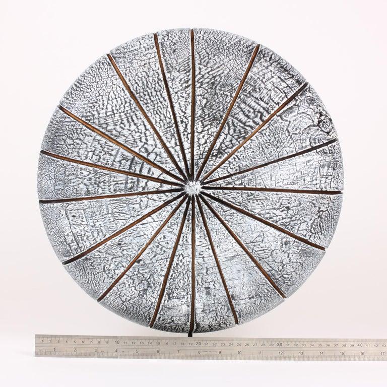 Contemporary Wood Sculpture, Parasélène Blanc For Sale 3