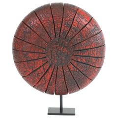 Contemporary Wood Sculpture, Parasélène Rouge