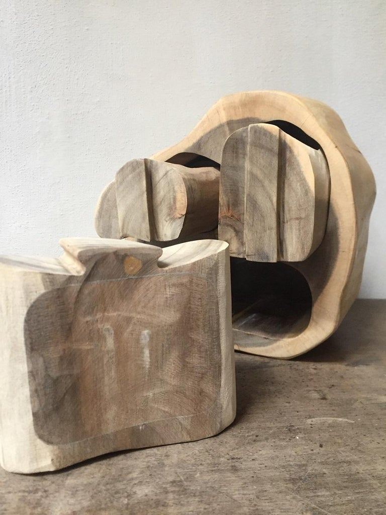 Contemporary Wood Turned Box For Sale 5
